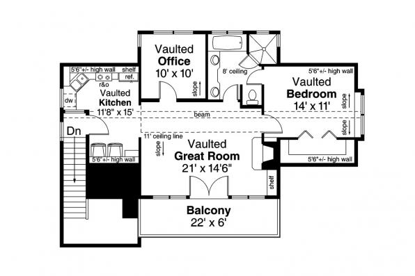 Garage Plan 20-119 - Second Floor Plan