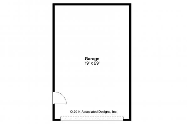 Garage Plan 20-135 - Floor Plan