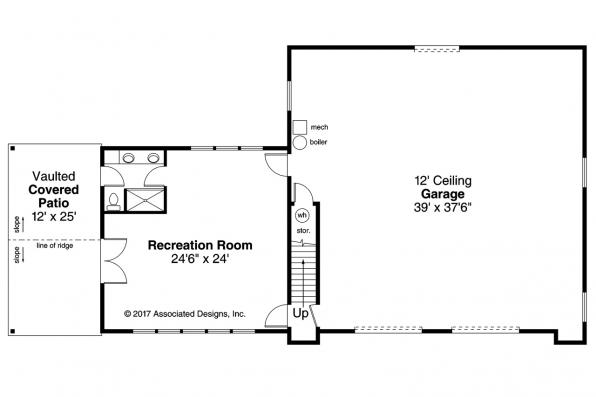 Garage Plan 20-166 - First Floor Plan