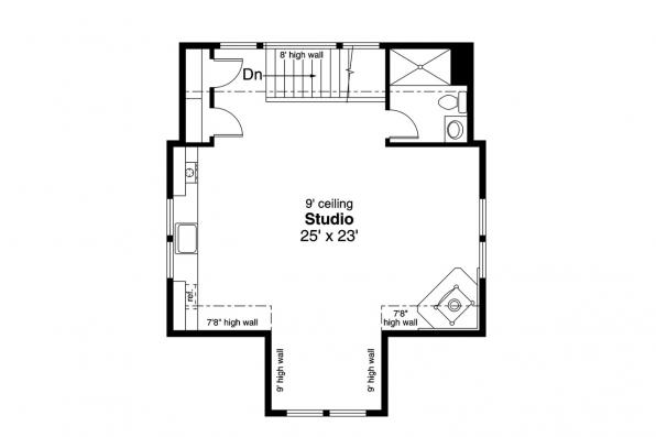 Garage Plan 20-189 - Second Floor Plan