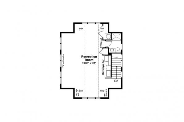 Garage Plan 20-221 - Second Floor Plan