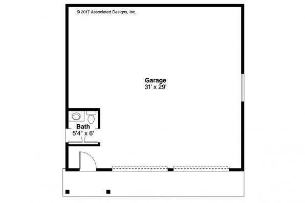 Garage Plan 20-222 - Floor Plan