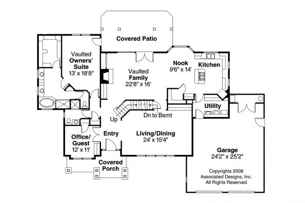Georgian House Plan - Ainsworth 10-355 - 1st Floor Plan