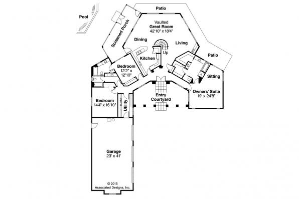 Georgian House Plan - Beckwith 11-128 - 1st Floor Plan