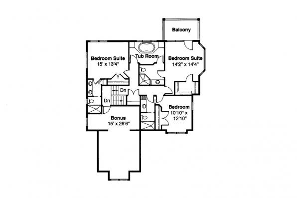Lodge Style House Plan - Deschutes 30-150 - 2nd Floor Plan