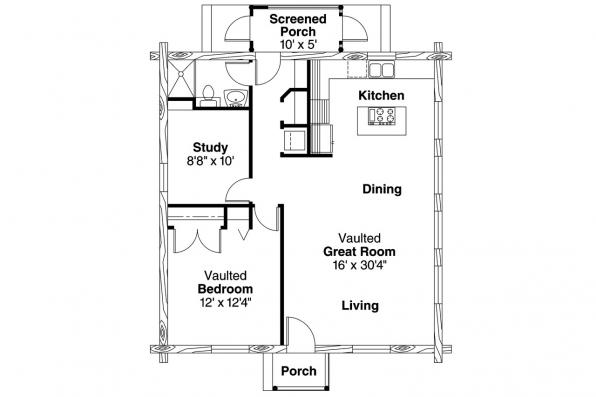 Log Home Floor Plan - Clarkridge 30-267 - Floor Plan