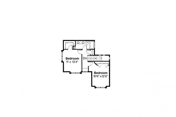 Mediterranean House Plan - Deveroux 10-354 - 2nd Floor Plan