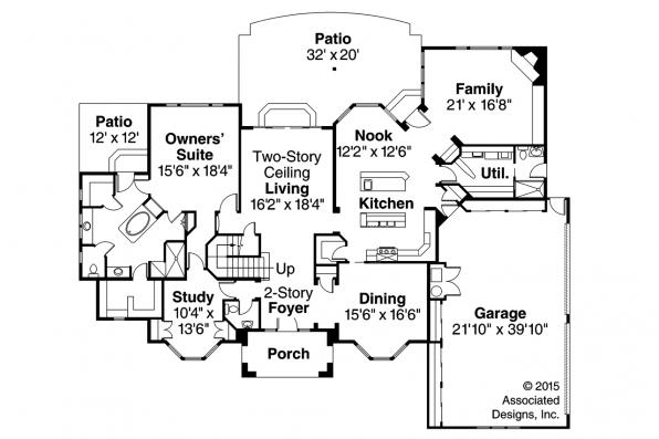 Mediterranean House Plan - Lucardo 30-181 - 1st Floor Plan