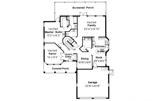 Mediterranean House Plan - Merida 11-009 - 1st Floor Plan