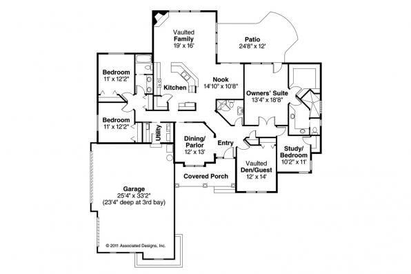 Mediterranean House Plan - Roselle 30-427 - Floor Plan