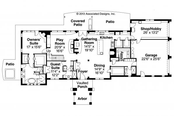 Mediterranean House Plan - Vercelli 30-491 - 1st Floor Plan