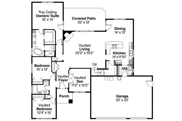 Prairie style house plans cheyenne 30 643 associated for Prairie style floor plans