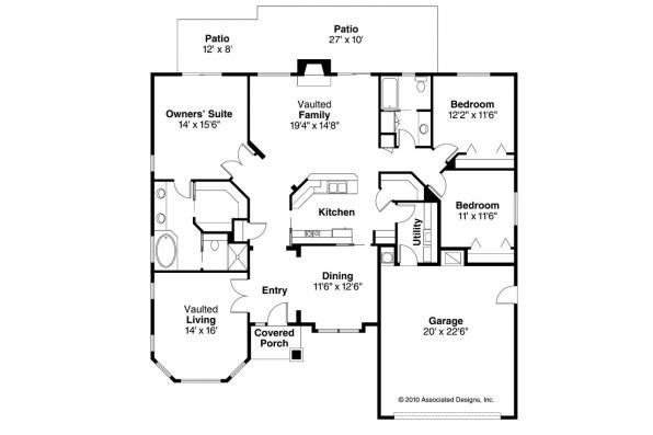Ranch House Plan - Arvada 30-261 - Floor Plan