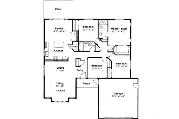 Ranch House Plan - Baldwin 30-019 - Floor Plan