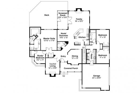 Ranch House Plan - Bridgewater 10-253 - Floor Plan