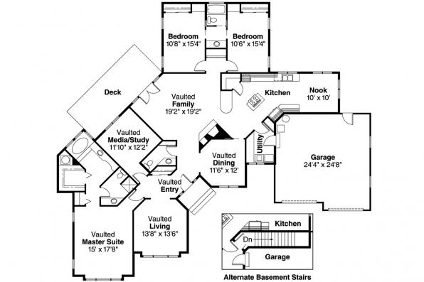 Ranch House Plan - Camrose 10-007 - Floor Plan