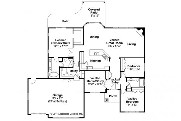 Ranch House Plan - Chadbryne 30-577 - Floor Plan
