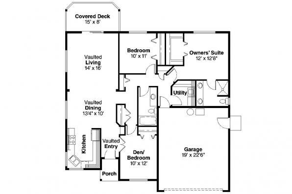 Ranch House Plan - Dexter 30-547 - Floor Plan