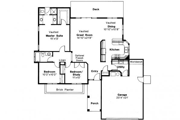 Ranch House Plan - Easton 10-133 - Floor Plan