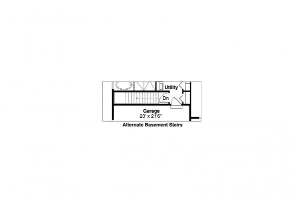 Ranch House Plan - Fern View 30-766 - Alternate Basement Stair