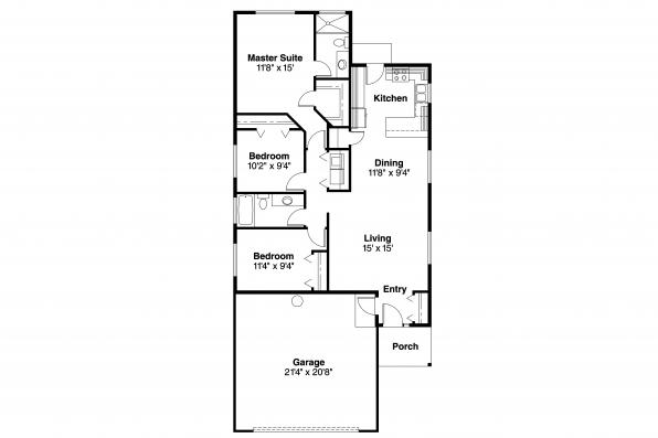 Ranch House Plan - Greer 30-484 - Floor Plan