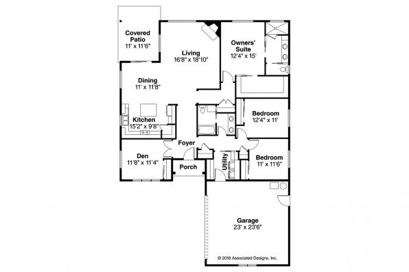 Ranch House Plan - Holyoke 31-093 - Floor Plan
