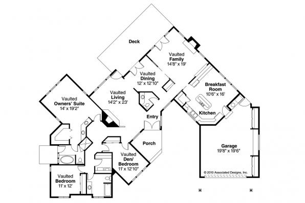 Ranch House Plan - Linwood 10-039 - Floor Plan
