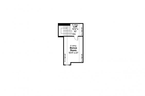 Ranch House Plan - Rosemont 30-376 - 2nd Floor Plan