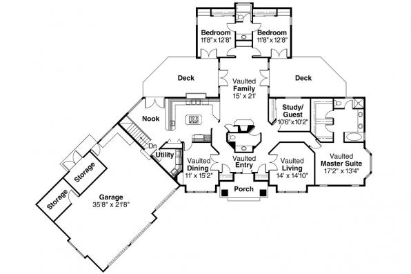 Ranch House Plan - Sheridan 10-042 - Floor Plan