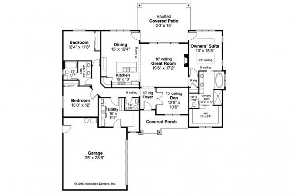 Ranch House Plan - Wasco 31-106 - Floor Plan