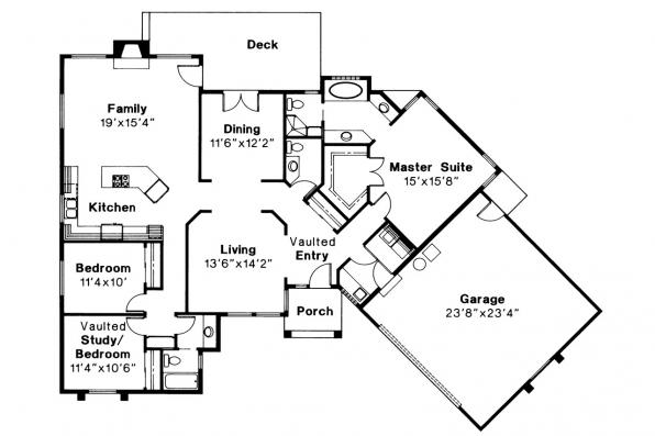 Ranch House Plan - Wateridge 10-144 - Floor Plan