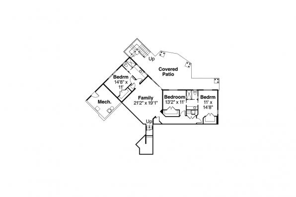 Shingle Style House Plan - Northbrook 30-898 - Lower Level Floor Plan