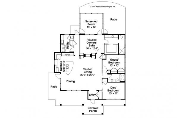 Shingle Style House Plan - Tidewater 30-997 - Floor Plan