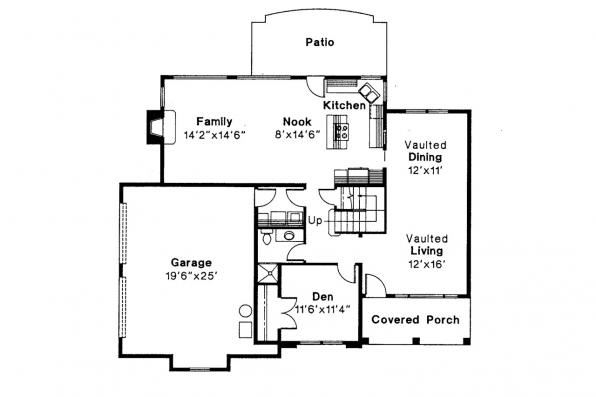 Southwest House Plan - August 30-082 - 1st Floor Plan