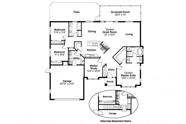 Southwest House Plan - Brisbane 11-016 - Floor Plan