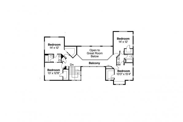 Southwest House Plan - Casselman 30-432 - 2nd Floor Plan