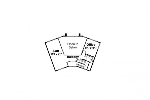 Southwest House Plan - Estefan 30-125 - 2nd Floor Plan