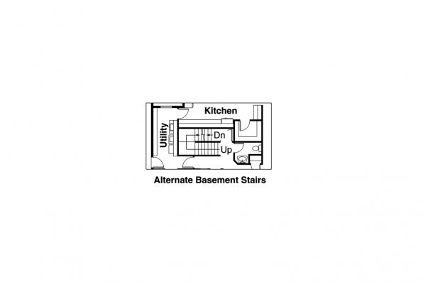 Southwest House Plan - Noranda 30-123 - Alternate Basement Stair