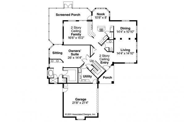 Southwest House Plan - Southaven 11-038 - 1st Floor Plan