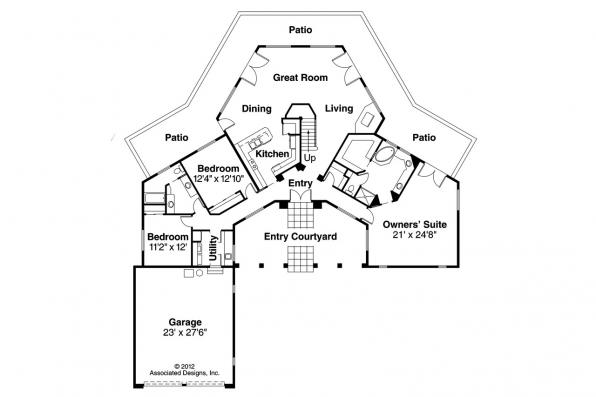 Spanish Style House Plan - Grandeza 10-136 - 1st Floor Plan
