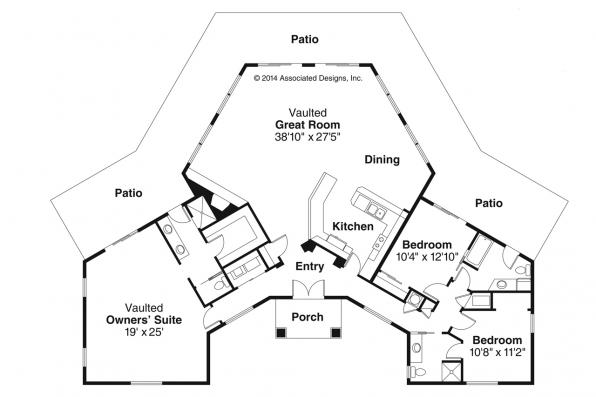 Spanish Style House Plan - Santa Ana 11-148 - Floor Plan