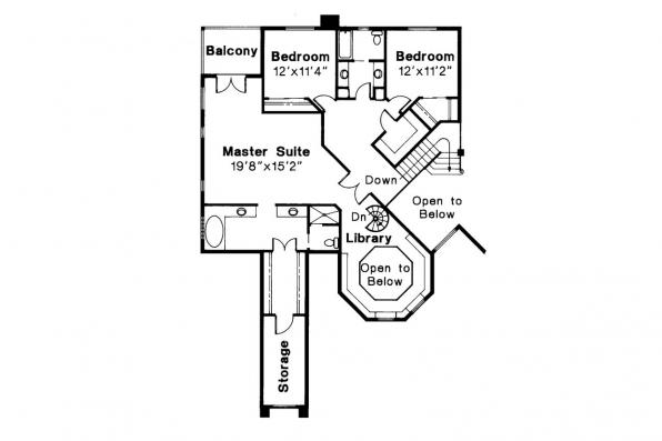 Spanish Style House Plan - Stanfield 11-084 - 2nd Floor Plan