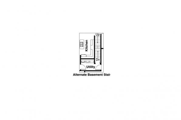 Traditional Home Plan - Davidson 30-384 - Alternate Basement Option