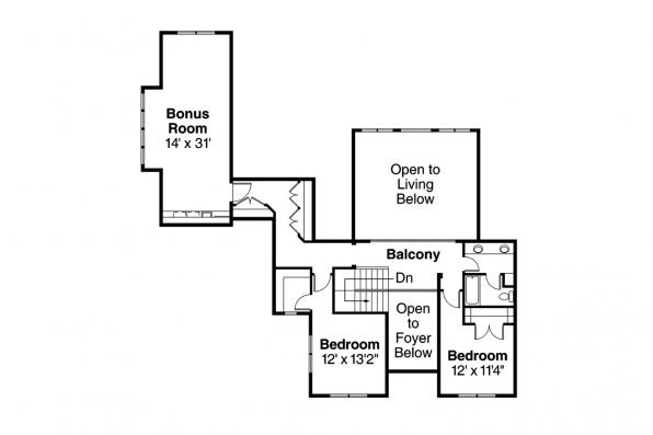 Traditional House Plan - Fairbanks 30-648 - 2nd Floor Plan