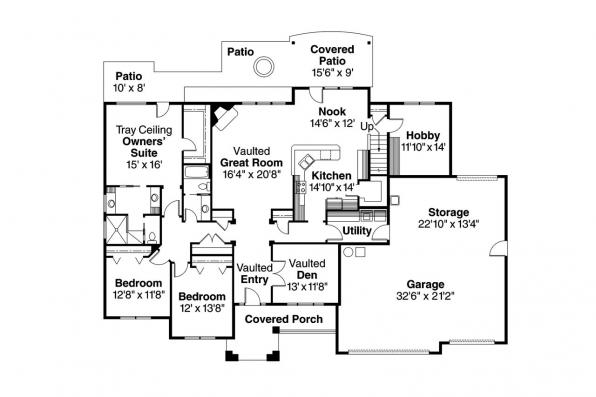 Traditional House Plan - Abbington 30-582 - 1st Floor Plan