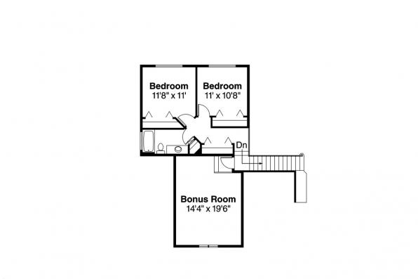 Traditional House Plan - Albany 30-047 - 2nd Floor Plan