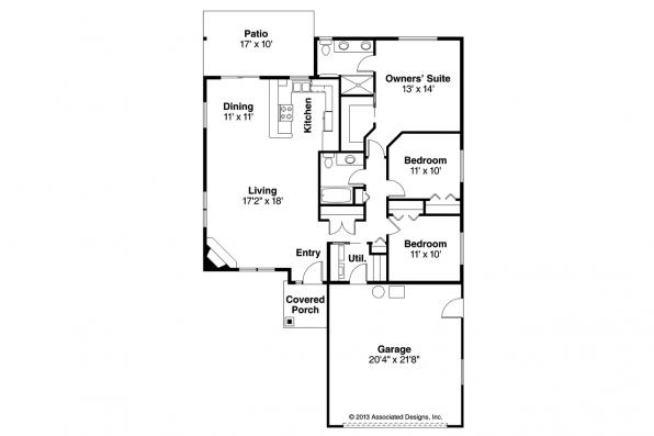 Traditional House Plan - Alden 30-904 - Floor Plan