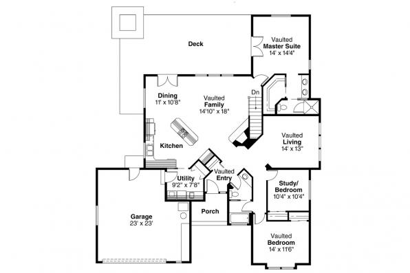 Traditional House Plan - Austin 10-051 - Floor Plan