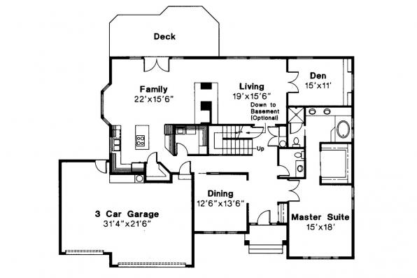 Traditional House Plan - Berkley 10-032 - 1st Floor Plan