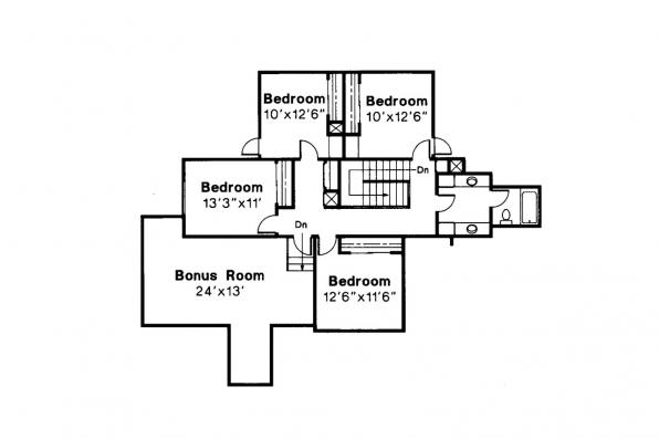 Traditional House Plan - Berkley 10-032 - 2nd Floor Plan